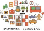 image of colorful miscellaneous ... | Shutterstock .eps vector #1925091737