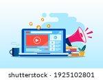 flat design video marketing ...   Shutterstock .eps vector #1925102801