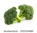 Fresh Broccoli Isolate On White ...