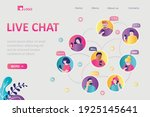 live chat  landing page... | Shutterstock .eps vector #1925145641