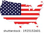 vector of the usa map flags | Shutterstock .eps vector #1925152601