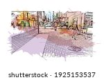 building view with landmark of... | Shutterstock .eps vector #1925153537