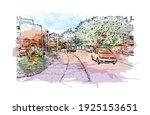 building view with landmark of... | Shutterstock .eps vector #1925153651