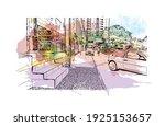 building view with landmark of... | Shutterstock .eps vector #1925153657