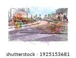 building view with landmark of... | Shutterstock .eps vector #1925153681
