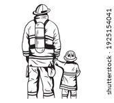 illustration of firefighters... | Shutterstock .eps vector #1925154041