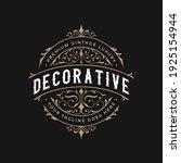 vintage frame logo. antique... | Shutterstock .eps vector #1925154944