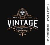 vintage frame logo. antique... | Shutterstock .eps vector #1925154947