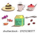 Coffee Set  Cake  Cup Of Coffee ...