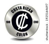 costa rica money icon isolated... | Shutterstock .eps vector #1925164697