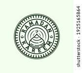 islamic line art logo vector... | Shutterstock .eps vector #1925165864
