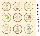 sauce labels set | Shutterstock .eps vector #192517175