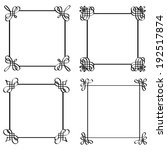 set of calligraphic frames....   Shutterstock .eps vector #192517874