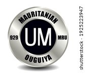 mauritania money icon isolated...   Shutterstock .eps vector #1925223947