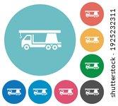crane truck flat white icons on ... | Shutterstock .eps vector #1925232311