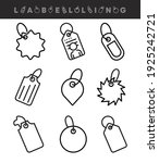 label vector icon sets.... | Shutterstock .eps vector #1925242721