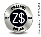 zimbabwe money icon isolated on ... | Shutterstock .eps vector #1925254124