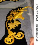 detail of embroidered in fine...   Shutterstock . vector #1925267024