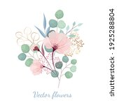 Vector Blush Flowers With Green ...