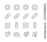 adhesive plaster related icons  ... | Shutterstock .eps vector #1925308001