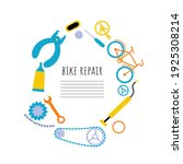 bike repair banner with tools... | Shutterstock .eps vector #1925308214