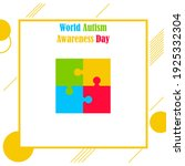 world autism awareness day... | Shutterstock .eps vector #1925332304