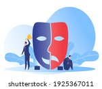 imposter syndrome.man standing... | Shutterstock .eps vector #1925367011