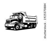 Dump Truck Vector Front Side...