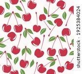 cherry  seamless vector pattern ...   Shutterstock .eps vector #1925384024