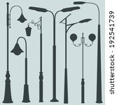 Vector Set Of Street Lights...