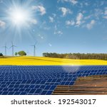 solar power cells  rapeseed... | Shutterstock . vector #192543017