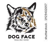 Dog Face Vector Illustration In ...