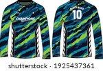 camouflage long sleeve t shirt  ... | Shutterstock .eps vector #1925437361