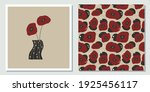 retro  vintage flower card and...   Shutterstock .eps vector #1925456117
