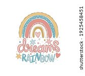dreams rainbow. cartoon cute...   Shutterstock .eps vector #1925458451