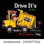 drive it's  vector animal... | Shutterstock .eps vector #1925477261