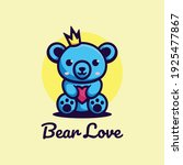 vector logo illustration bear... | Shutterstock .eps vector #1925477867