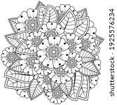mehndi flower for henna  mehndi ... | Shutterstock .eps vector #1925576234