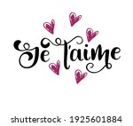 je t'aime   i love you in... | Shutterstock .eps vector #1925601884