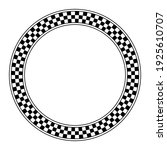 circle frame with checkered... | Shutterstock .eps vector #1925610707