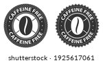 caffeine free icons  stamps set.... | Shutterstock .eps vector #1925617061