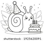 happy cute cartoon snail.... | Shutterstock .eps vector #1925620091