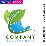 water drop with leaf logo... | Shutterstock .eps vector #1925621321