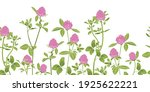 hand drawn red clover on a... | Shutterstock .eps vector #1925622221