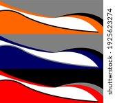 racing car wrap design vector | Shutterstock .eps vector #1925623274