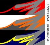 racing car wrap design vector | Shutterstock .eps vector #1925623277