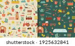 gardening seamless patterns of... | Shutterstock .eps vector #1925632841