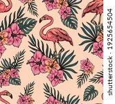tropical light vintage seamless ... | Shutterstock .eps vector #1925654504