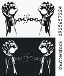 freedom hand breaking from... | Shutterstock .eps vector #1925657324