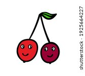 funny red cherries with eyes... | Shutterstock .eps vector #1925664227
